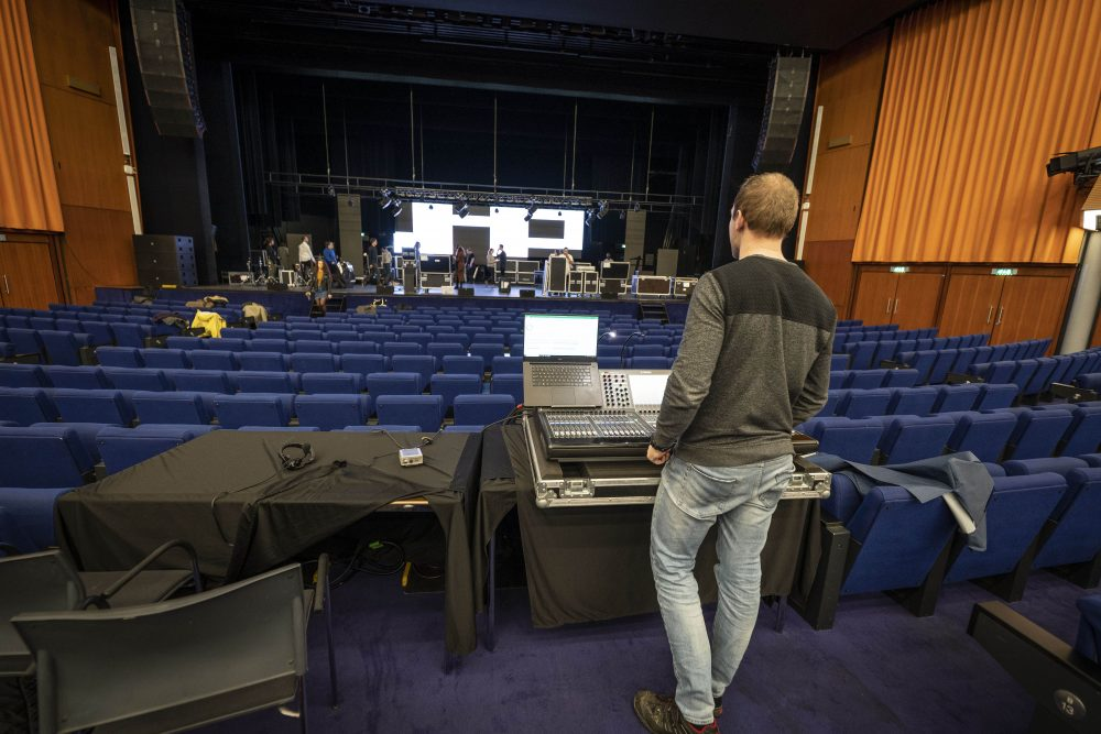 Rai theater, amterdam, av technici, audiovisuele apparatuur